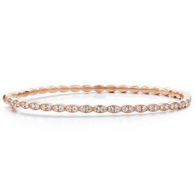 Hearts on Fire 1.12 ctw. Lorelei Floral Diamond Bangle in 18K Rose Gold