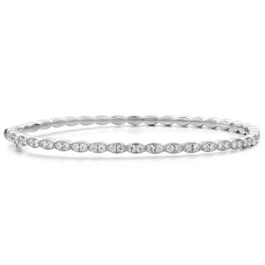 Hearts on Fire 0.98 ctw. Lorelei Floral Diamond Bangle in 18K White Gold