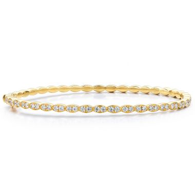 Hearts on Fire 0.98 ctw. Lorelei Floral Diamond Bangle in 18K Yellow Gold