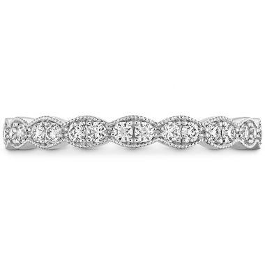 Hearts on Fire 0.25 ctw. Lorelei Floral Milgrain Diamond Band in 18K White Gold