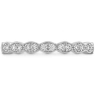 Hearts on Fire 0.25 ctw. Lorelei Floral Milgrain Diamond Band in Platinum