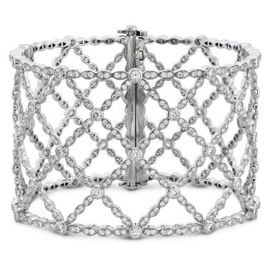 Hearts on Fire 8.3 ctw. Lorelei Lattice Diamond Intensive Bangle in 18K White Gold