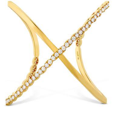Hearts on Fire 4.3 ctw. Lorelei Criss Cross Cuff in 18K White Gold