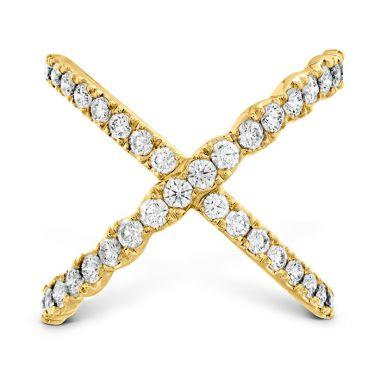 Hearts on Fire 1 ctw. Lorelei Diamond Criss Cross Ring in 18K Yellow Gold