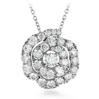 Hearts on Fire 1.75 ctw. Lorelei Diamond Floral Pendant in 18K White Gold