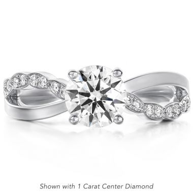 Hearts on Fire 0.1 ctw. Lorelei Diamond Twist Engagement Ring in Platinum