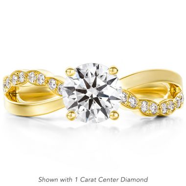 Hearts on Fire 0.1 ctw. Lorelei Diamond Twist Engagement Ring in 18K Yellow Gold