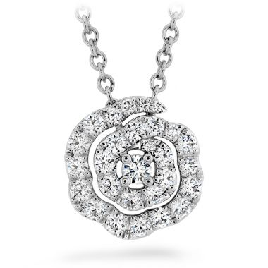 Hearts on Fire 0.27 ctw. Lorelei Diamond Floral Pendant - Small in 18K White Gold