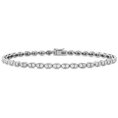 Hearts on Fire 1.95 ctw. Lorelei Floral Diamond Line Bracelet - S in 18K White Gold