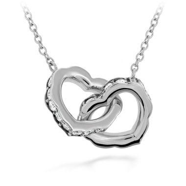 Hearts on Fire 0.25 ctw. Lorelei Interlocking Diamond Heart Necklace in 18K Yellow Gold