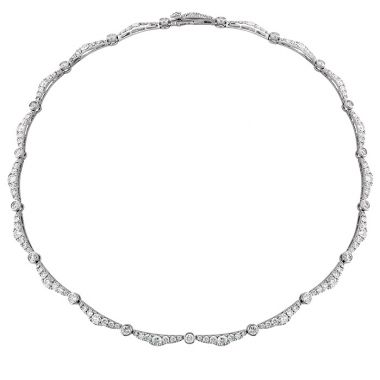 Hearts on Fire 10.45 ctw. Lorelei Ribbon Diamond Line Necklace in 18K White Gold