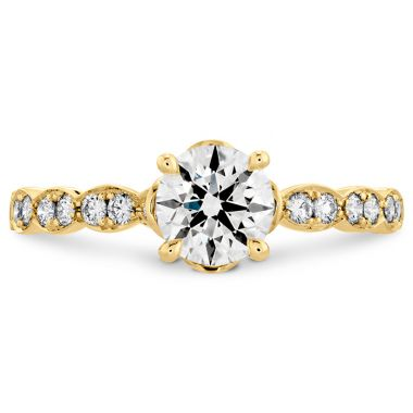 Hearts on Fire 0.15 ctw. Lorelei Floral Engagement Ring-Diamond Band in 18K Yellow Gold