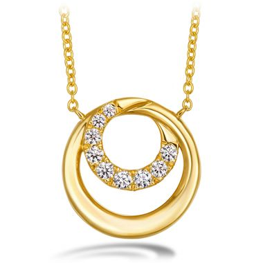 Hearts on Fire 0.19 ctw. Optima Circle Pendant in 18K Yellow Gold