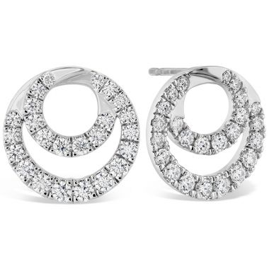 Hearts on Fire 1.15 ctw. Optima Diamond Circle Earrings in 18K White Gold