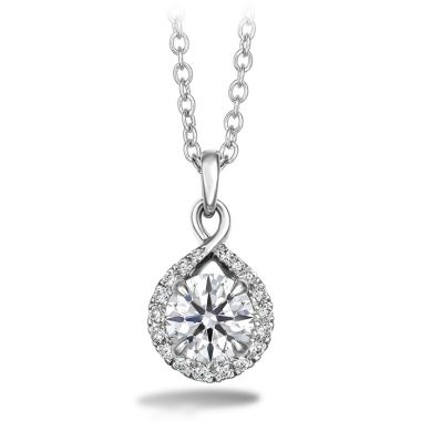 Hearts on Fire 0.56 ctw. Optima Diamond Drop Pendant in 18K White Gold
