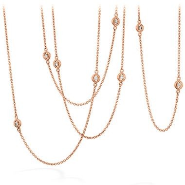Hearts on Fire 1.04 ctw. Optima Station Necklace in 18K Rose Gold