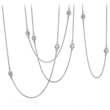 Hearts on Fire 1.63 ctw. Optima Station Necklace in 18K White Gold