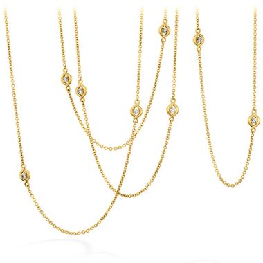 Hearts on Fire 1.04 ctw. Optima Station Necklace in 18K Yellow Gold