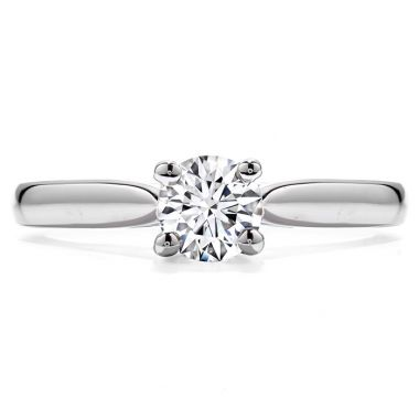 Hearts on Fire Purely Bridal Four Prong V Gallery in 18K White Gold