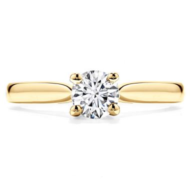 Hearts on Fire Purely Bridal Four Prong V Gallery in 18K Yellow Gold