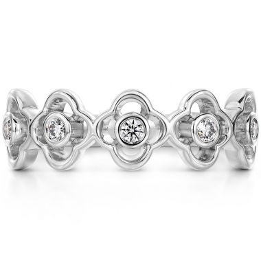 Hearts on Fire 0.15 ctw. Signature Petal Bezel Band in 18K White Gold