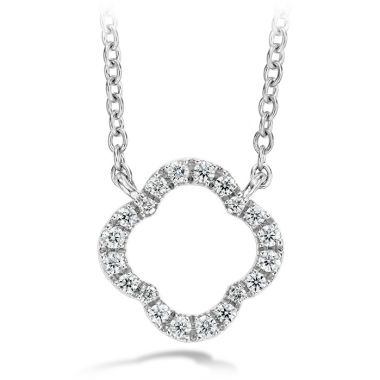 Hearts on Fire 0.1 ctw. Signature Petal Pendant in 18K White Gold
