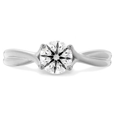 Hearts on Fire 1.5 ctw. Simply Bridal Twist Solitaire Engagement Ring in 18K White Gold