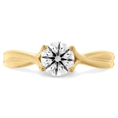 Hearts on Fire 0.5 ctw. Simply Bridal Twist Solitaire Engagement Ring in 18K Yellow Gold