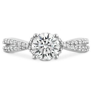Hearts on Fire 0.22 ctw. Simply Bridal Diamond Intensive Twist Semi Mount in 18K White Gold