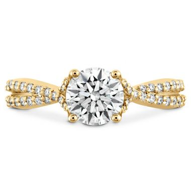 Hearts on Fire 0.22 ctw. Simply Bridal Diamond Intensive Twist Semi Mount in 18K Yellow Gold