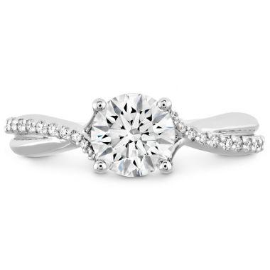 Hearts on Fire 0.1 ctw. Simply Bridal Diamond Twist Semi Mount in Platinum