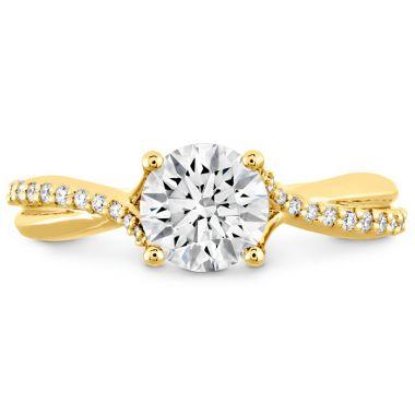 Hearts on Fire 0.1 ctw. Simply Bridal Diamond Twist Semi Mount in 18K Yellow Gold