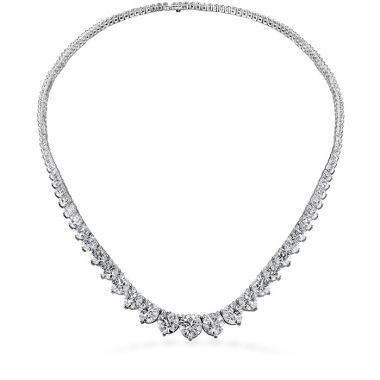 Hearts on Fire 12 ctw. Temptation Three-Prong Necklace in 18K White Gold