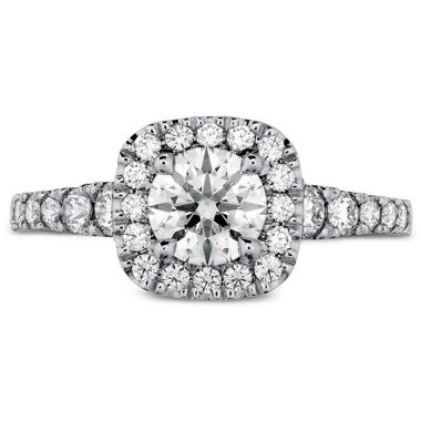Hearts on Fire 0.65 ctw. Transcend Premier Custom Halo Engagement Ring in 18K White Gold
