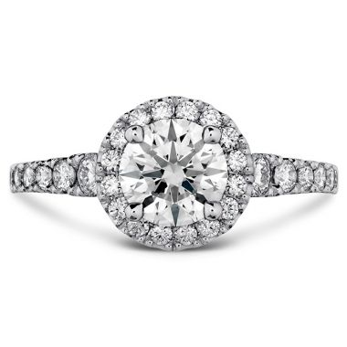 Hearts on Fire 0.5 ctw. Transcend Premier HOF Halo Engagement Ring in 18K White Gold