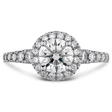 Hearts on Fire 0.55 ctw. Transcend Premier HOF Halo Engagement Ring in Platinum