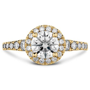Hearts on Fire 0.5 ctw. Transcend Premier HOF Halo Engagement Ring in 18K Yellow Gold