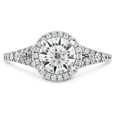 Hearts on Fire 0.35 ctw. Transcend Premier HOF Halo Split Shank Engagement Ring in 18K White Gold