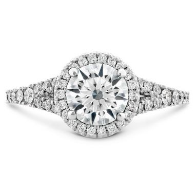 Hearts on Fire 0.35 ctw. Transcend Premier HOF Halo Split Shank Engagement Ring in Platinum