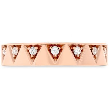 Hearts on Fire 0.1 ctw. Triplicity Triangle Multi Diam Band 4mm in 18K Rose Gold