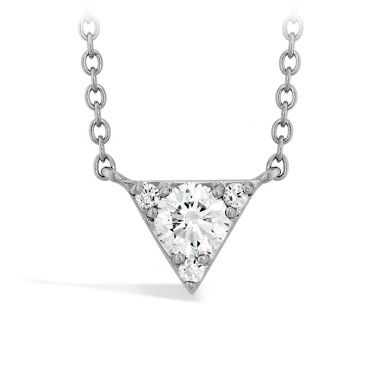 Hearts on Fire 0.28 ctw. Triplicity Triangle Pendant in 18K White Gold