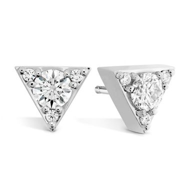 Hearts on Fire 0.5 ctw. Triplicity Triangle Stud Earrings in 18K Yellow Gold