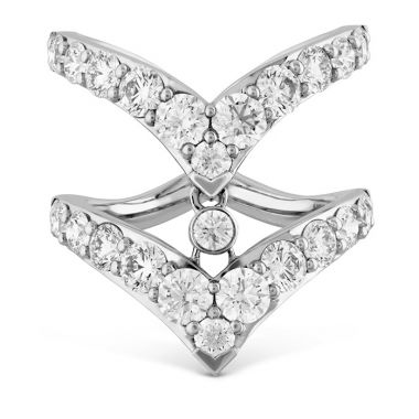 Hearts on Fire 2.65 ctw. Triplicity Double Pointed Ring in 18K White Gold