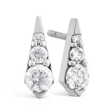 Hearts on Fire 0.4 ctw. Triplicity Drop Stud Earrings in 18K Rose Gold