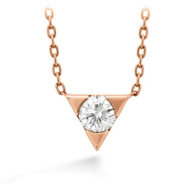 Hearts on Fire 0.1 ctw. Triplicity Single Diamond Pendant in 18K Rose Gold