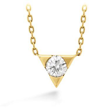 Hearts on Fire 0.1 ctw. Triplicity Single Diamond Pendant in 18K Yellow Gold