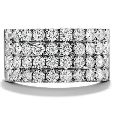 Hearts on Fire 1.95 ctw. Truly Classic Four-Row Right Hand Ring in 18K White Gold