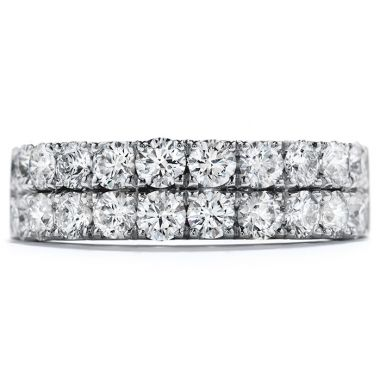 Hearts on Fire 1 ctw. Truly Classic Double-Row Wedding Band in 18K White Gold