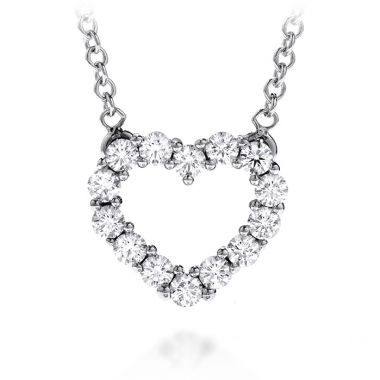 Hearts on Fire 0.8 ctw. Whimsical Heart Pendant Necklace in 18K White Gold